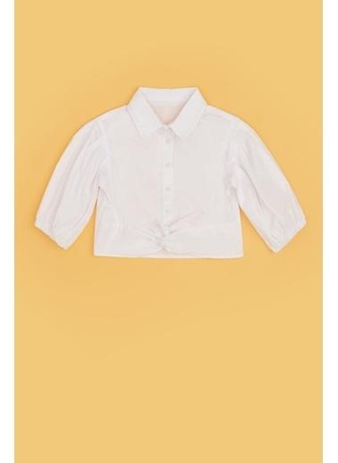 Tyess Kız Çocuk Beyaz Gömlek 20Pfwtj4601 Beyaz